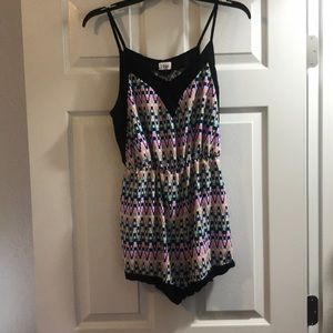 Multicolored romper.